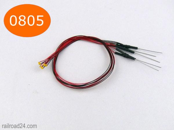0805 SMD-LED  with cable and resistor.